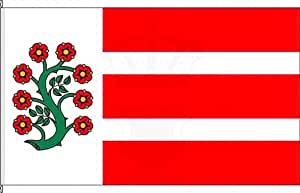 Königsbanner Tischfähnchen Selfkant - Tischflaggenständer aus Chrom