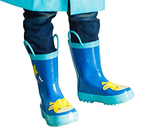 Smile YKK Bottes de Pluie Imperméable Antiderapant Pour Enfant Bleu