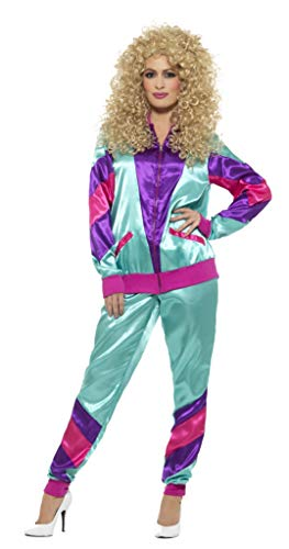 Smiffys Damen 80er Jahre Fashion Shell Kostüm, Jacke und Hose, Größe: M, (Jahr 2017 Kostüm)