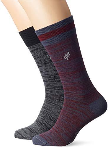 Marc O\'Polo Body & Beach Herren M (2-Pack) Socken, Blau (Indigo 824), 43/46 (Herstellergröße: 406) (2erPack)