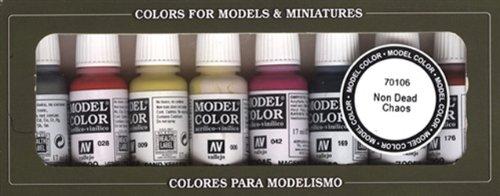 Paint Vallejo Model Color no Muerte Caos Acrílico Set - Surtido de Co