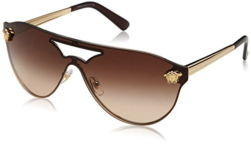 Versace Damen 0VE2161 125213 42 Sonnenbrille, Pale Gold/Browngradient