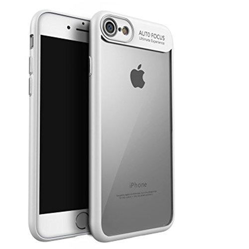 iPhone 8 Hülle, [Ultra Hybrid] Cover [Rot] inkl. Panzerglas Handyhülle TPU Bumper Tasche Panzerfolie Acryl Schutzhülle für iPhone 8 Case Cover [Red] Weiss