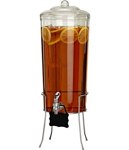 Buddeez 27801C-ONL Shatter Resistant Wire Base/Hang Tag Beverage Dispenser, One Size, Clear Punch Bowl Base
