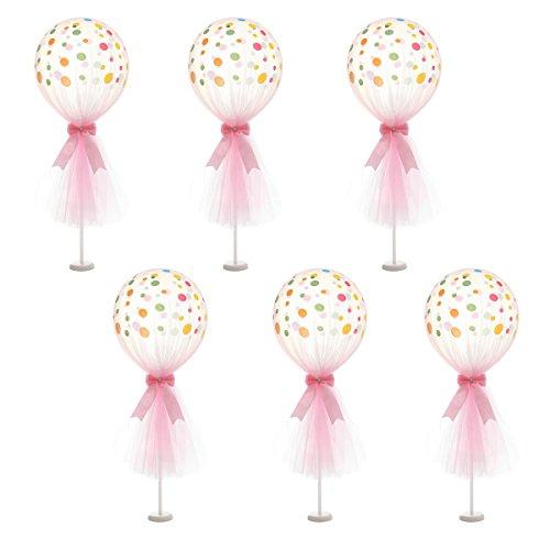 HBBMagic Latex Luftballons Rosa Tüll Ballons mit Spalte Base Kit für Baby Shower Geburtstag Hochzeit Tisch ()
