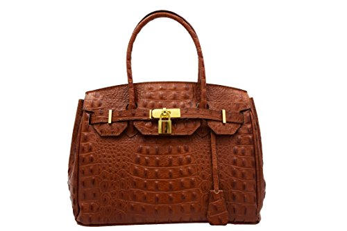HANDBAG LEATHER CROCO