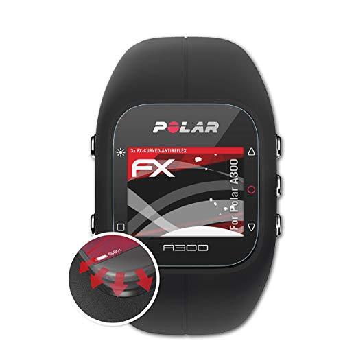 atFoliX Schutzfolie passend für Polar A300 Folie, entspiegelnde und Flexible FX Displayschutzfolie (3X)