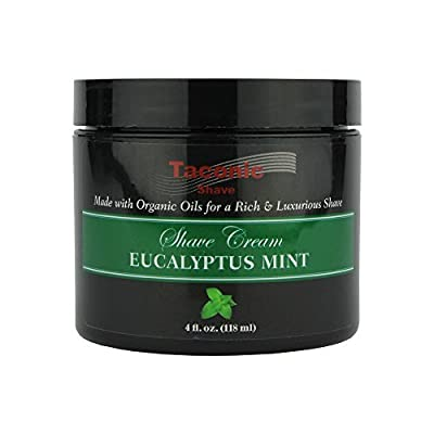 Taconic Shave Eucalyptus Mint Shaving Cream with Organic Oils 118ml Tub