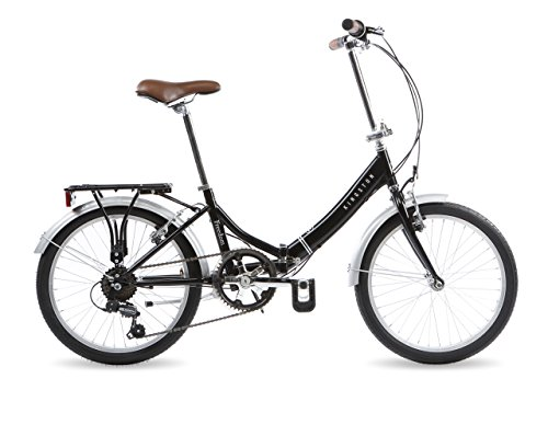 Kingston Freedom, Unisex Folding Bike, 6 Speed, 20 Inch Wheels, Black