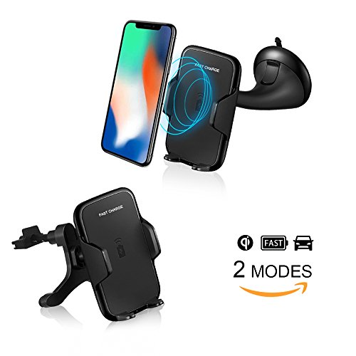 Wireless Auto Ladegerät QI Induktives KFZ Ladegerät und Halterung für Samsung Note 8, Galaxy S8/S8 Plus,Galaxy S7/S6,S7 Edge/S6 Edge,Note5, iphone X, iphone 8 Plus/8 und andere QI-Fähige Geräte (Gps-mount Note 3)