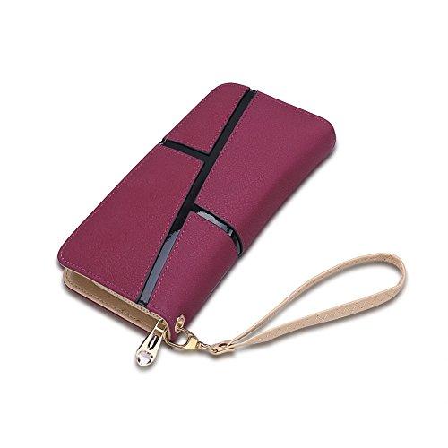 Fayting EU Portafoglio donna borsellino PU pelle irregolato figura vari colori da scelto carte borsellino portafoglio da banchetto buon regalo