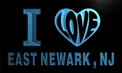 v60961-b I Love EAST NEWARK , NJ NEW JERSEY City Limit Neon Light Sign