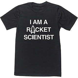 Hippowarehouse i am a Rocket Scientist Unisex Short Sleeve t-Shirt (Specific Size Guide in Description) Black