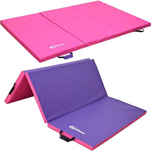 Eyepower XL Gymnastikmatte 180x120x5cm Turnmatte Sportmatte Weichbodenmatte Pink