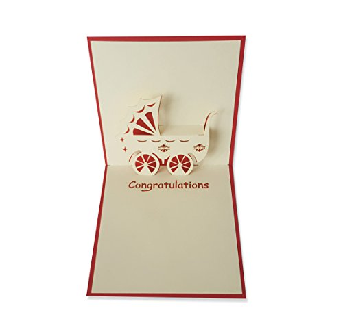 Yokarta 3d pop up cards new born baby congratulation message card yokarta 3d pop up cards new born baby congratulation message card with envelope for unique newborn wishes to girls and boys baby shower christening m4hsunfo