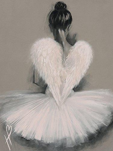 Hazel Bowman Engel Flügel Kunstdruck auf Leinwand 60x 80cm