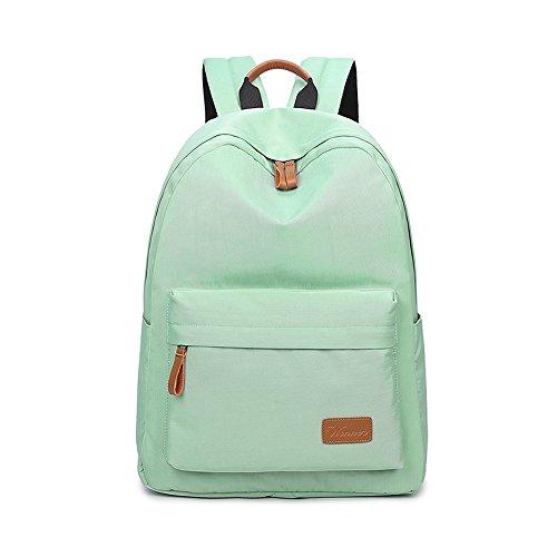 VLike Rücksack Rucksäcke Rucksack Backpack Daypack Schulranzen Schulrucksack Wanderrucksack Schultasche Rucksack für Schülerin Mädchen (Hell Grün) - 2