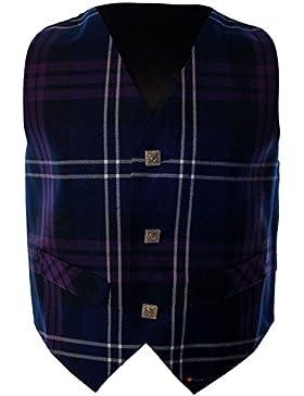 I Luv LTD Boys Waistcoat Silk Back Adjustable Buckle Heritage of Scotland Tartan