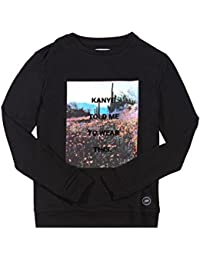 Sweat Kanye fleurs Sixth June noir 1332V