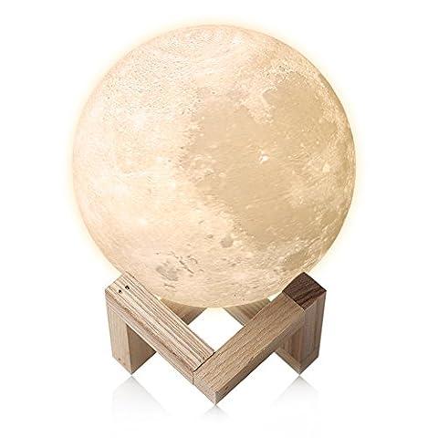 LED Lampe, Feitenn 3D-Druck Mond Lampe Nachtlampe Nachtlicht Tischlampe LED