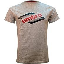 Umbro 93326I-011 Camiseta, Hombre, Gris, L