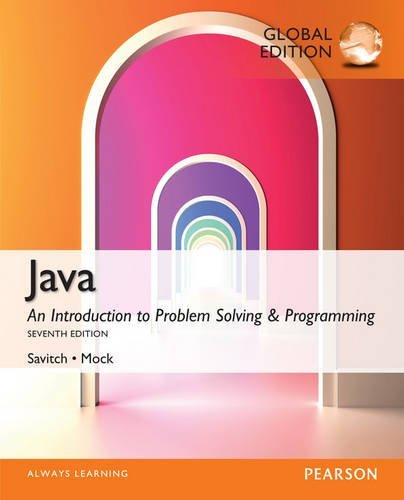 Java: Global Edition by Walter Savitch (2014-08-27)
