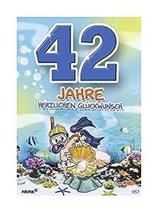 Depesche 5598.057Tarjeta de felicitación con diseño de Archie, 42. Cumpleaños