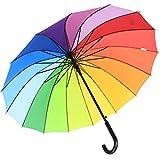 iX-brella Long parapluiede qualité 16parties résistant aux tempêtes 1m de diamètre Arc-en-ciel