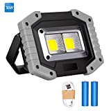 LED Floodlight Rechargeable, Work Lights Portable 30W with USB, Spotlight Waterproof Outdoor
