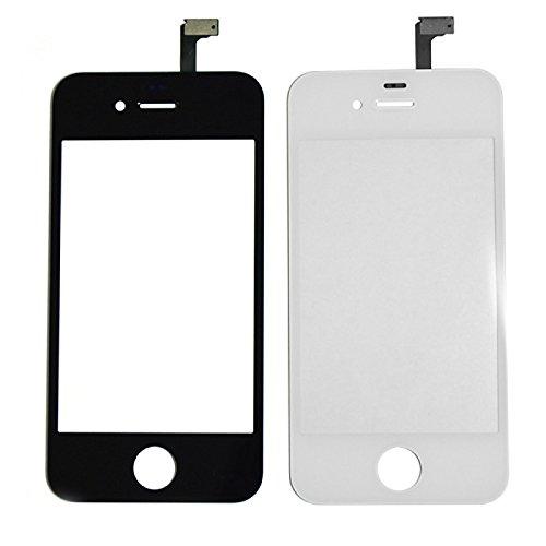 zll1990 Touch Screen Glas Digitizer Ersatz mit Montagewerkzeuge und 3M Kleber-Aufkleber für iPhone 4, White