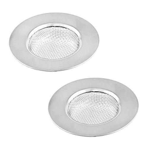 lantelme-5187-set-2-pezzi-setaccio-di-scarico-in-acciaio-inox-ideale-per-bagno-e-cucina