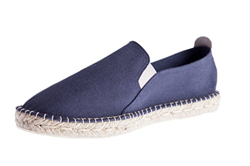 Casimiro Perez San Diego collection, Slip on Espadrilles Herren carbon schwarz