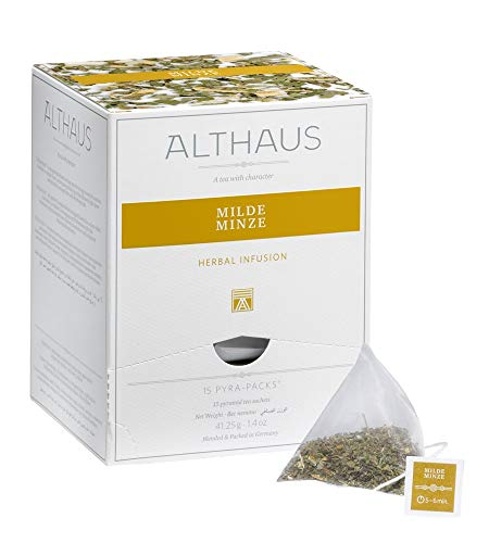 Althaus Pyra Pack Milde Minze 15 x 2,75g · Kräutertee im Pyramidenbeutel