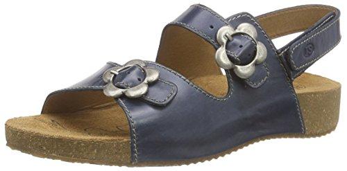 Josef Seibel Tonga 17, Damen Knöchelriemchen Sandalen, Blau (denim), 36 EU