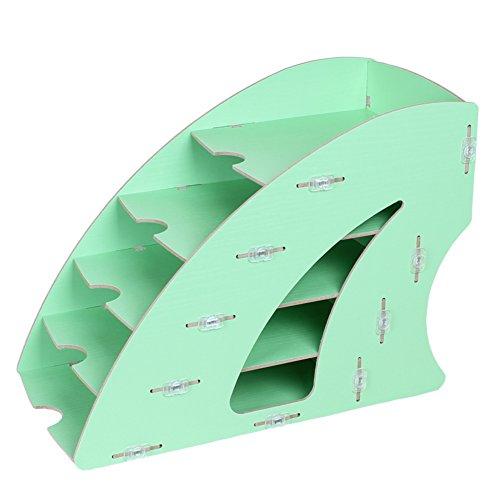 Nclon Prospekthalter holz Stehsammler,Aufbewahrungsbox Dauerhaft Büro Bett Küche Wohnzimmer Bücherregal-D 31.5*24*15.6cm 'd-bücherregal