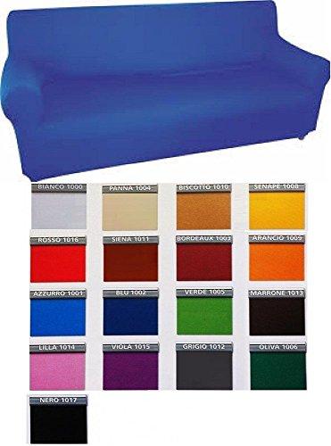 Copridivano 3 posti genius in tessuto bielastico colore foto a scelta
