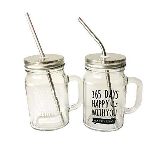 Alien Storehouse Vintage Mason Cup, Travel Cup, Einmachglas mit Griff#B