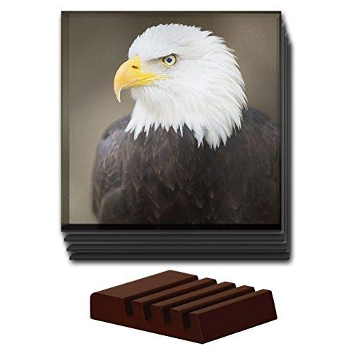 Bald Eagle Tier-Set von 4Glas Untersetzer aus Holz Halter