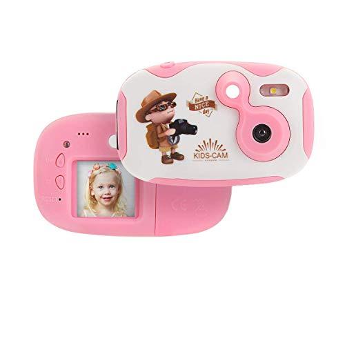 SHENGY Kinder kreative leichte Digitalkamera Anti-Beat weiche Silikonhülle mehrsprachiger HD-Bildschirm für Kinder Jungen Mädchen Geschenke,Pink
