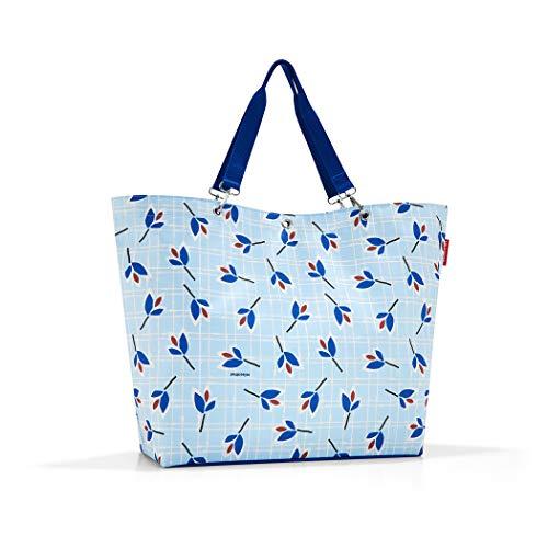 Reisenthel Shopper XL Strandtasche, 68 cm, 35 L, Blue Leaves