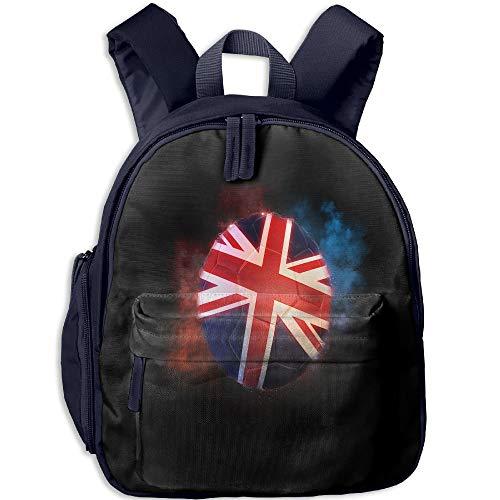 Football of The British Flag Toddler Kids Pre School Bag Cute 3D Print Children School Backpack (Flag Red Football)