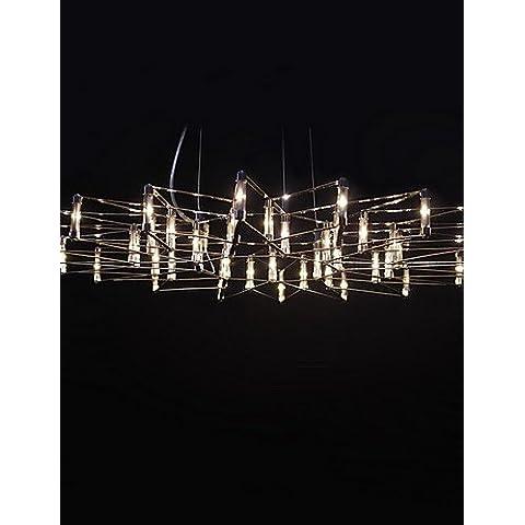 LYNDM-Miglior regalo di Natale, Led, pendente 45 Luce, acciaio inossidabile