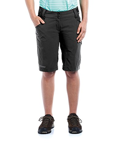 maier sports Damen Rad-wander Hose Brandenburg, Black, 44, 231900