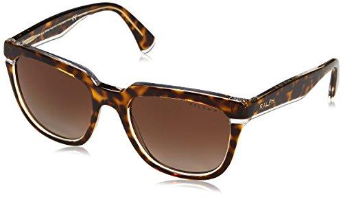 Ralph Lauren Ralph by Damen 0RA5237 1699T5 53 Sonnenbrille, Tortoise Crystal/Browngradientpolarized,
