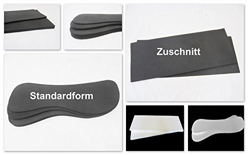 1 Paar Einlagen für Sattelunterlagen oder Pads, verschiedene Formen und Materialien Größe Moosgummi 20 mm Standardform