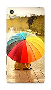 Amez designer printed 3d premium high quality back case cover for Sony Xperia Z5 Plus (Colorful Umbrellas Kids Rainbow Weather Mood)