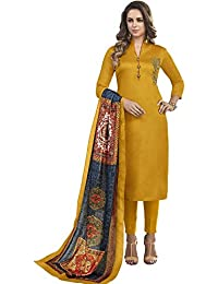 Impressed Collection Haldi Yellow Heavy Jam Cotton With Designer Hand Work Long Stitched Suit