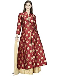 Manmandir Womens Cotton Silk Ghagra Choli Set Readymade (Salwar Suits for Women)