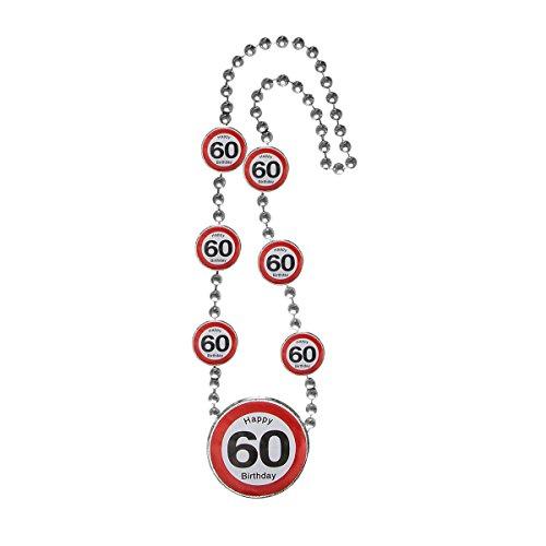 Preis am Stiel 2 x Halskette Happy Birthday 60. | Geburtstag | Partyzubehör