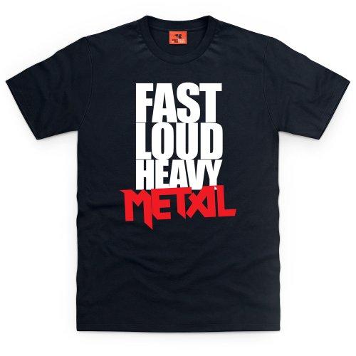 Heavy Metal T-Shirt, Herren Schwarz